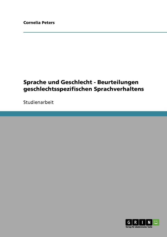 Cornelia Peters Sprache und Geschlecht - Beurteilungen geschlechtsspezifischen Sprachverhaltens bdf 1000c