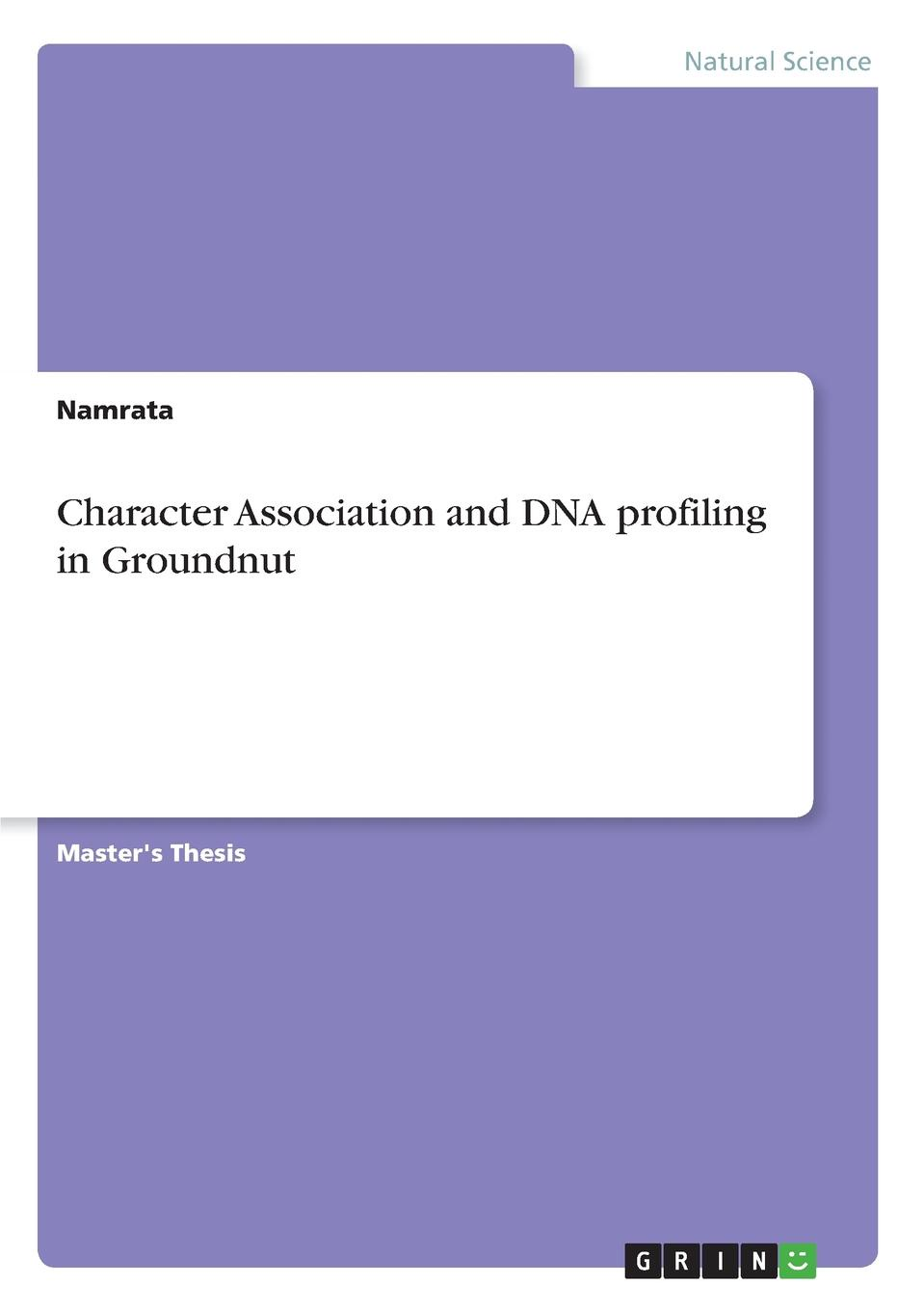 Namrata Character Association and DNA profiling in Groundnut evaluation of disease resistance in groundnut