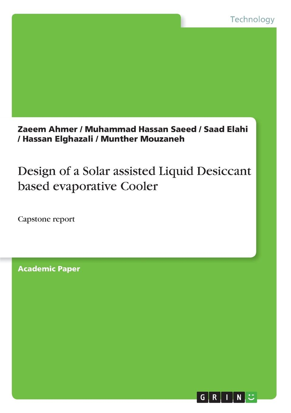 Zaeem Ahmer, Muhammad Hassan Saeed, Saad Elahi Design of a Solar assisted Liquid Desiccant based evaporative Cooler 12v 2 pin computer cooler small cooling fan 120mm x 120mm x 25mm pc box system hydraulic cooling fan for computer heatsink z09