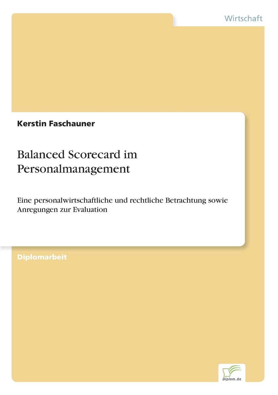 цена на Kerstin Faschauner Balanced Scorecard im Personalmanagement