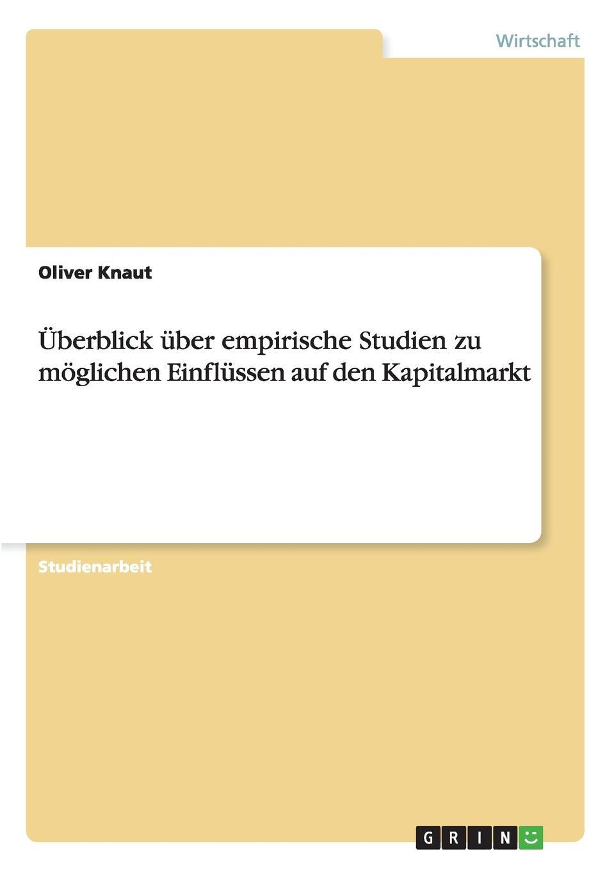 Oliver Knaut Uberblick uber empirische Studien zu moglichen Einflussen auf den Kapitalmarkt kathrin niederdorfer product placement ausgewahlte studien uber die wirkung auf den rezipienten