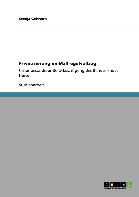 Svenja Gelshorn Privatisierung im Massregelvollzug stefan pilz die privatisierung des gerichtsvollzieherwesens