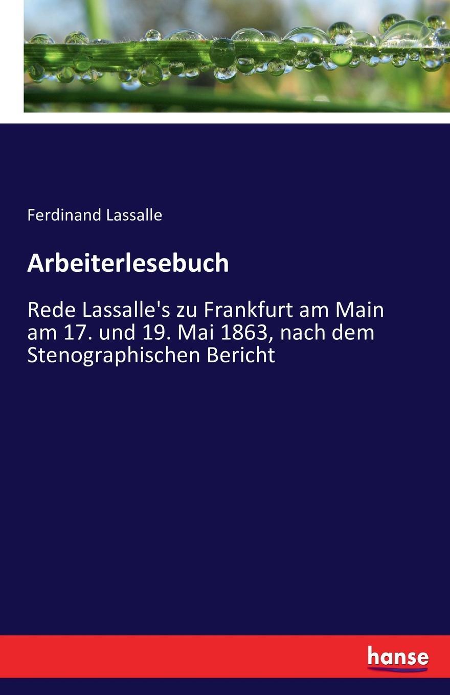Ferdinand Lassalle Arbeiterlesebuch недорого
