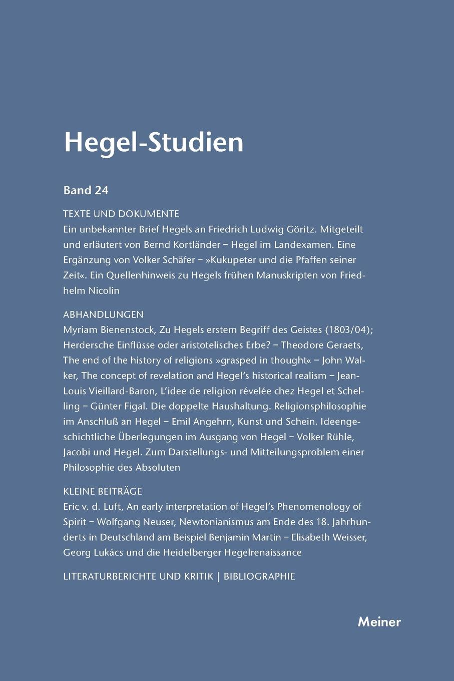 Hegel-Studien / Hegel-Studien hegel the end of history and the future