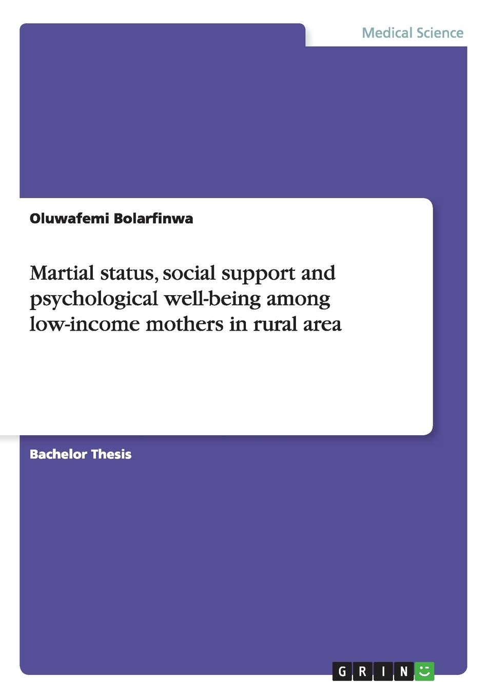 Oluwafemi Bolarfinwa Martial status, social support and psychological well-being among low-income mothers in rural area gender inequity and reproductive health status of rural women