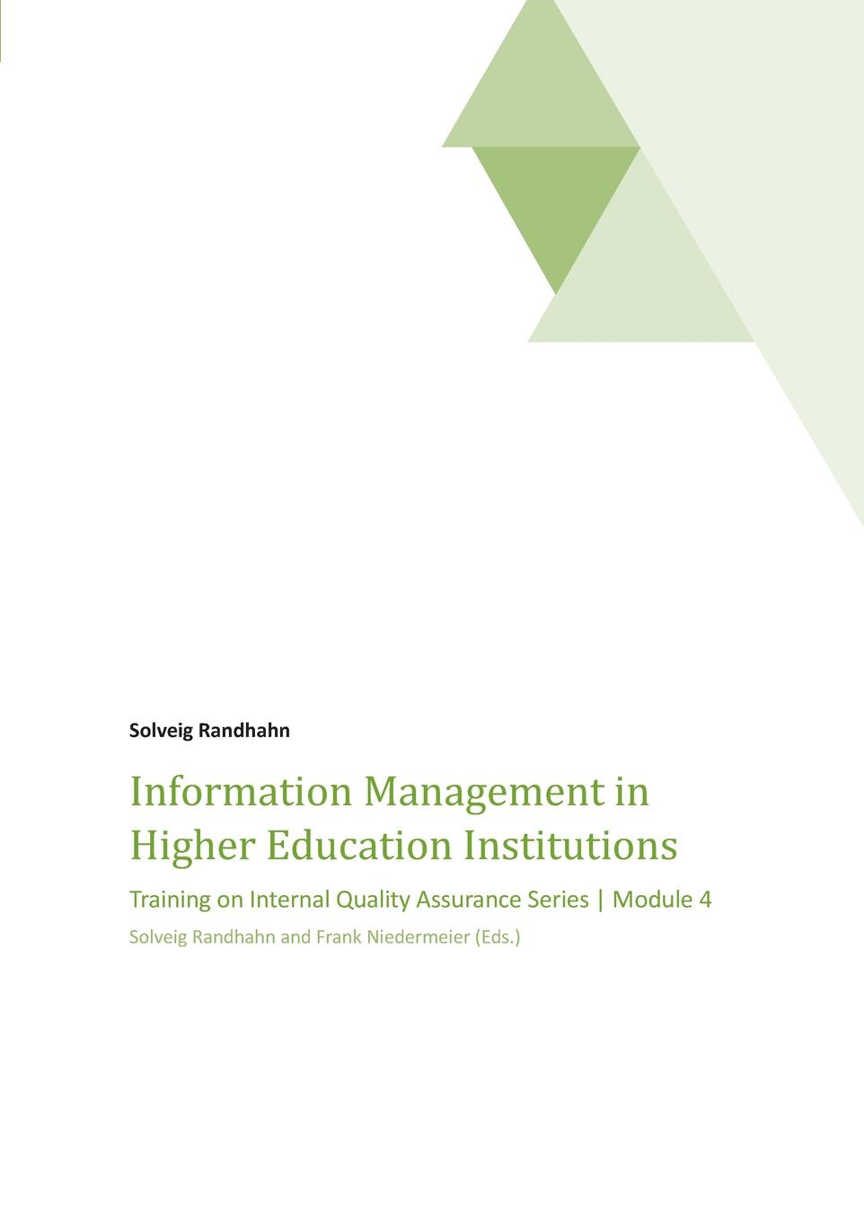 Dr. Solveig Randhahn Information Management in Higher Education Institutions цена
