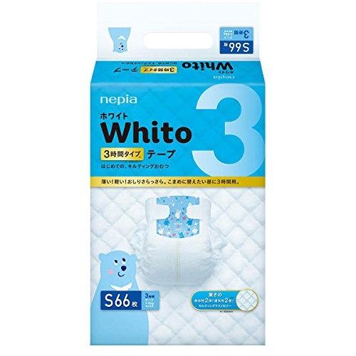 Подгузники NEPIA Whito 3 часа, S 66 шт. (4-8 кг)