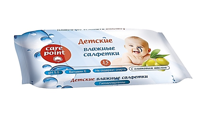 Фото - Care Point 250122 Салфетки для детей с оливковым маслом, 15 шт. всё для новорождённых
