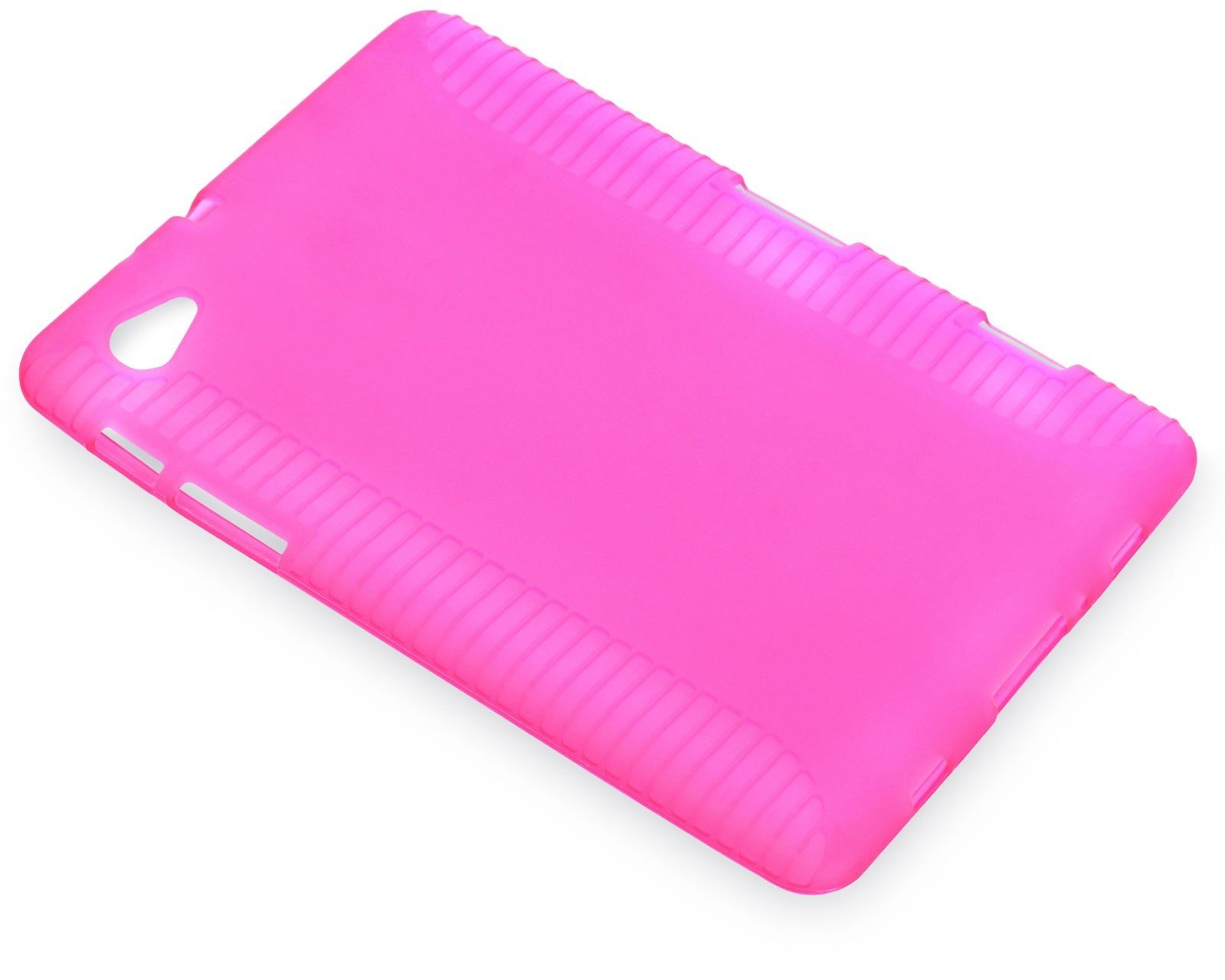 "Чехол для планшета iNeez накладка силикон 340105 для Samsung Tab 7.7"", розовый"