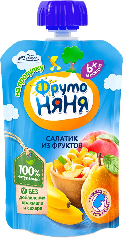 ФрутоНяня пюре салатик из фруктов с 6 месяцев, 90 г