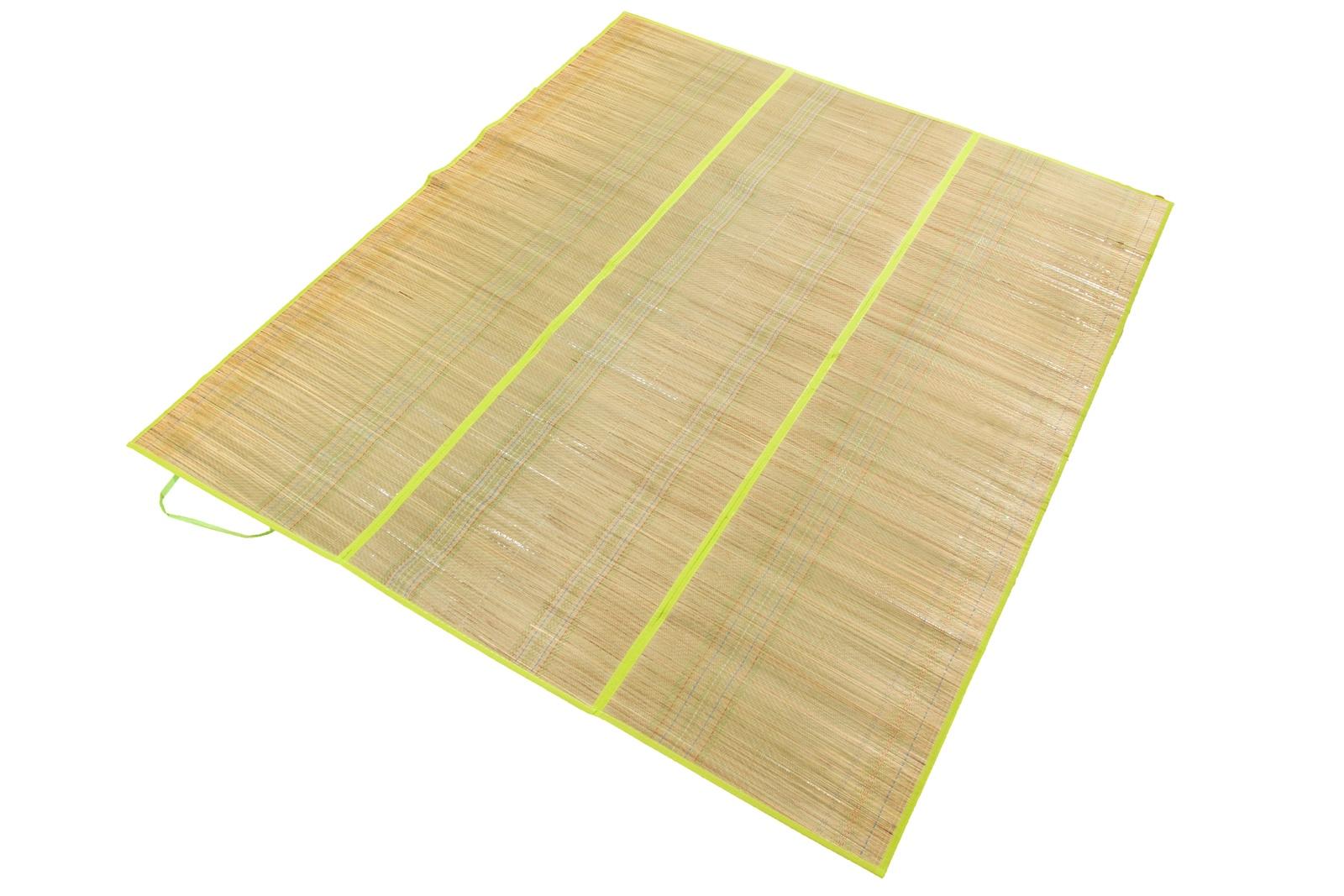 Коврик для пикника 12962Р,150х170 см.,Пляжный коврик - сумочка солома, бежевый, серебристый цена