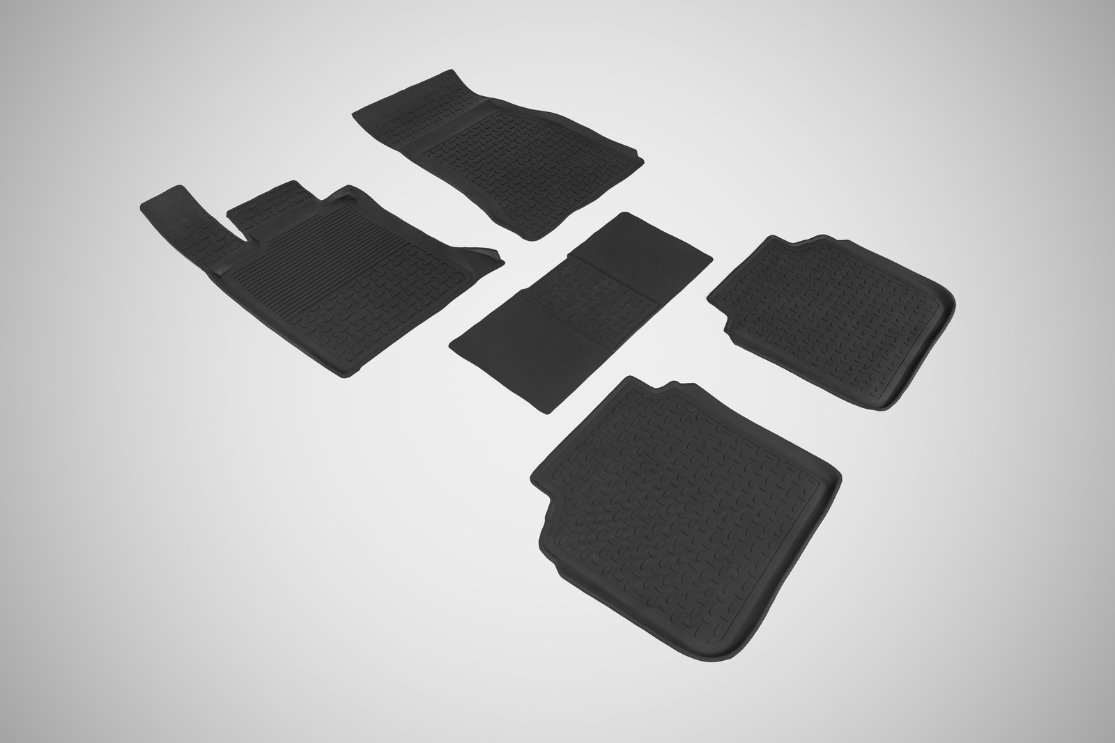 развивающие коврики Коврики в салон автомобиля Seintex Резиновые коврики с высоким бортом для BMW 7 Ser G-12 4WD 2015-н.в.