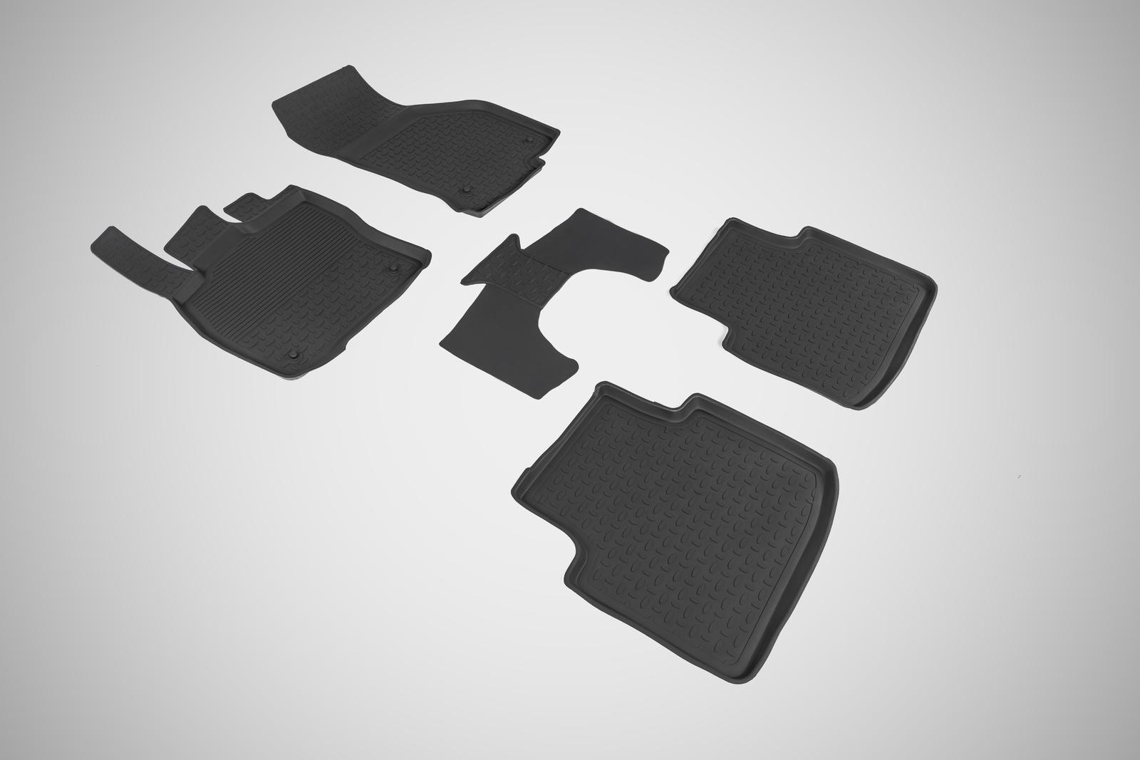 Коврики в салон автомобиля Seintex Резиновые коврики с высоким бортом для Skoda Superb III 2015-н.в.