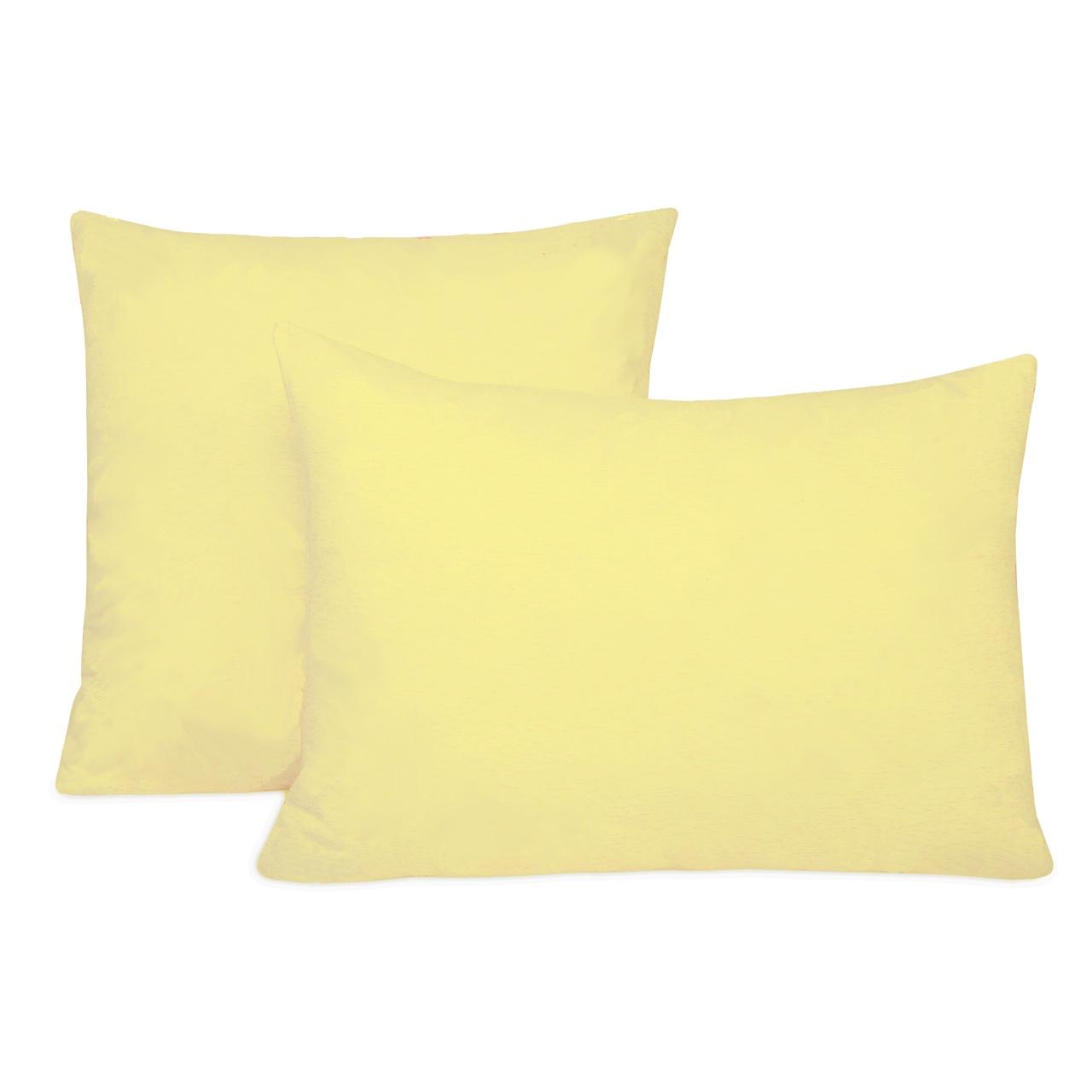 Наволочка Селтекс Трикотажные наволочки на молнии 50х70, Жёлтый светлый (2шт) цена