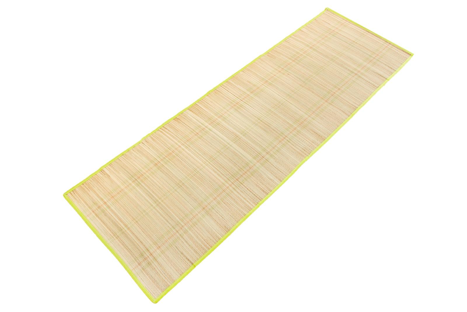 Коврик туристический 12965,60х180 пляжный коврик из соломы в рулоне, бежевый цена