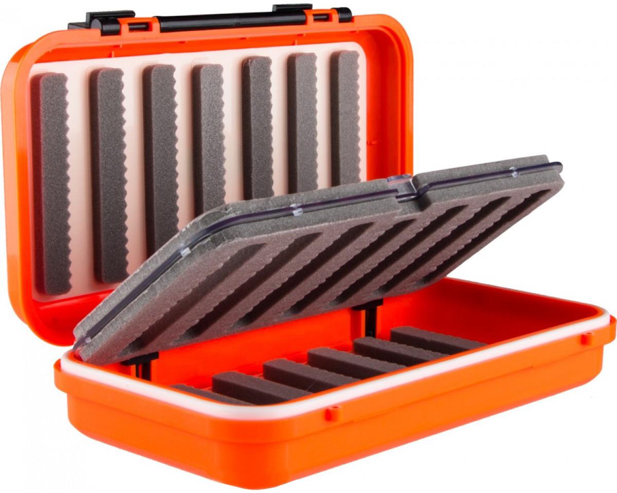 Контейнер для рыболовных принадлежностей Helios, HS-ZY-037, оранжевый, черный, 20 х 11 х 5 см