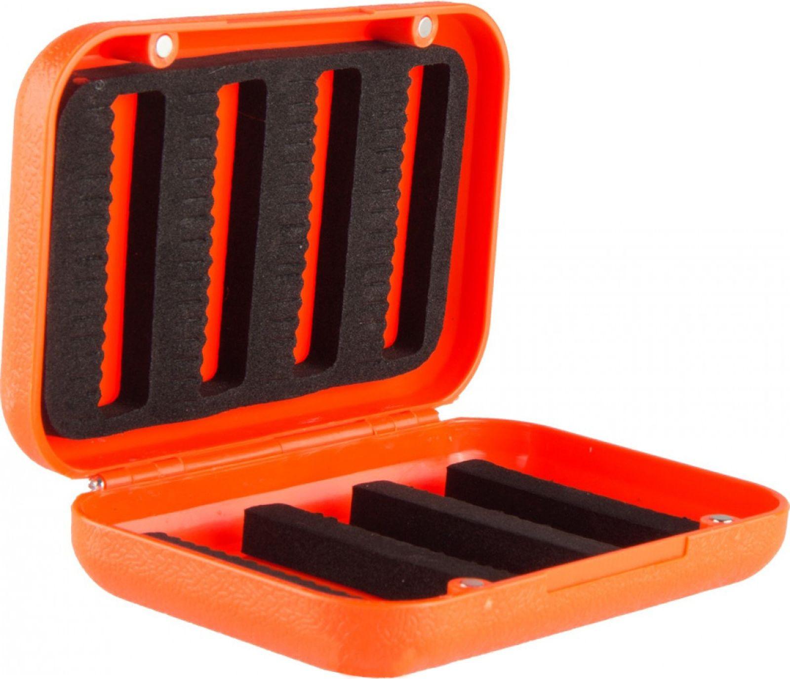 Контейнер для рыболовных принадлежностей Helios, HS-ZY-043, оранжевый, черный, 11 х 8 х 3 см
