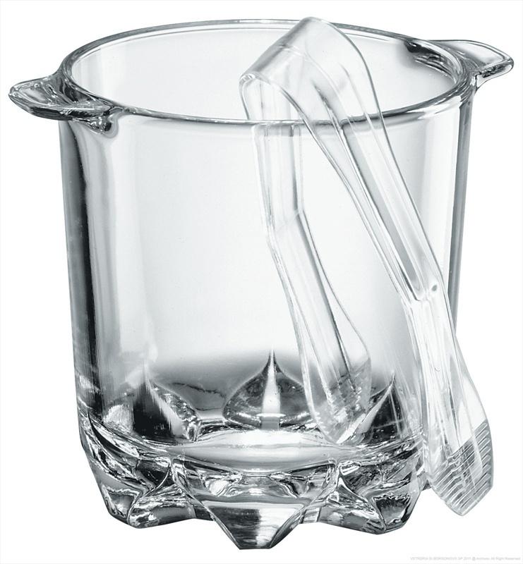 ведерко для льда муза с щипцами 11 5 х 13 см Ведерко для льда Italy, прозрачный