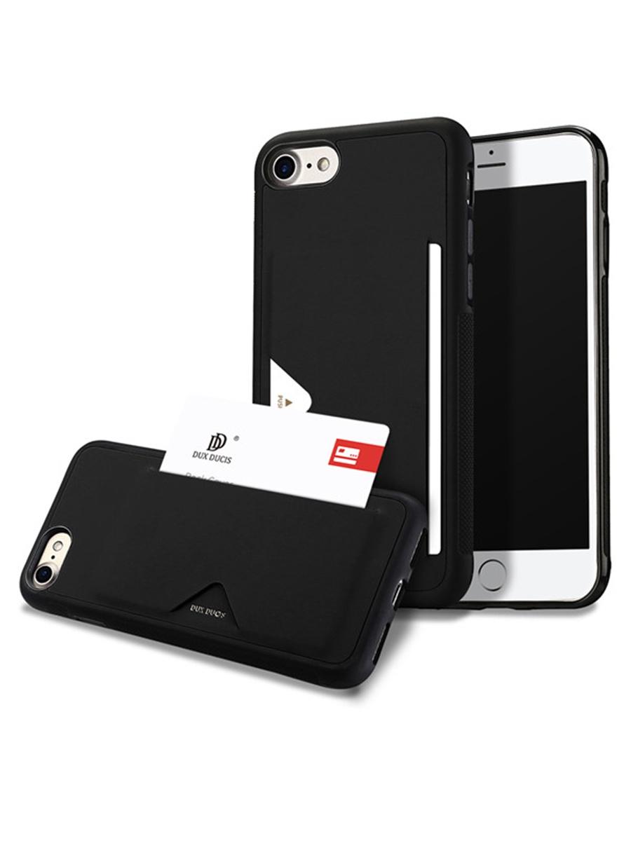 Чехол для сотового телефона DUX DUCIS iPhone 7 Plus/8 Plus, черный чехол книжка для apple iphone 7 8 sgp valentinus черный