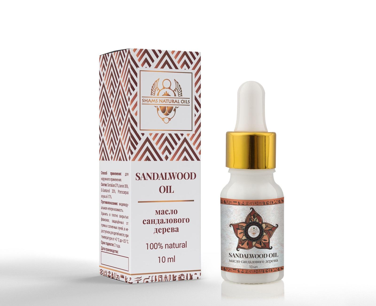 Масло косметическое Shams Natural Oils сандалового дерева 10 мл купероз розацеа