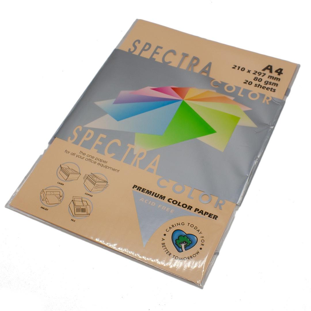 Бумага цветная Spectra Color IT150, Цвет: Peach Персиковый, 20 листов