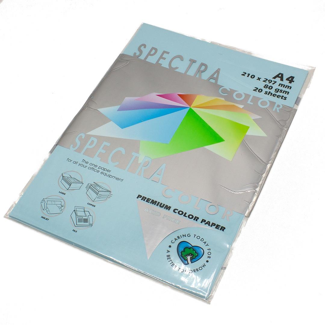 Бумага цветная Spectra Color IT120, Цвет: Ocean Голубой, 20 листов велосипед silverback spectra 275 2019