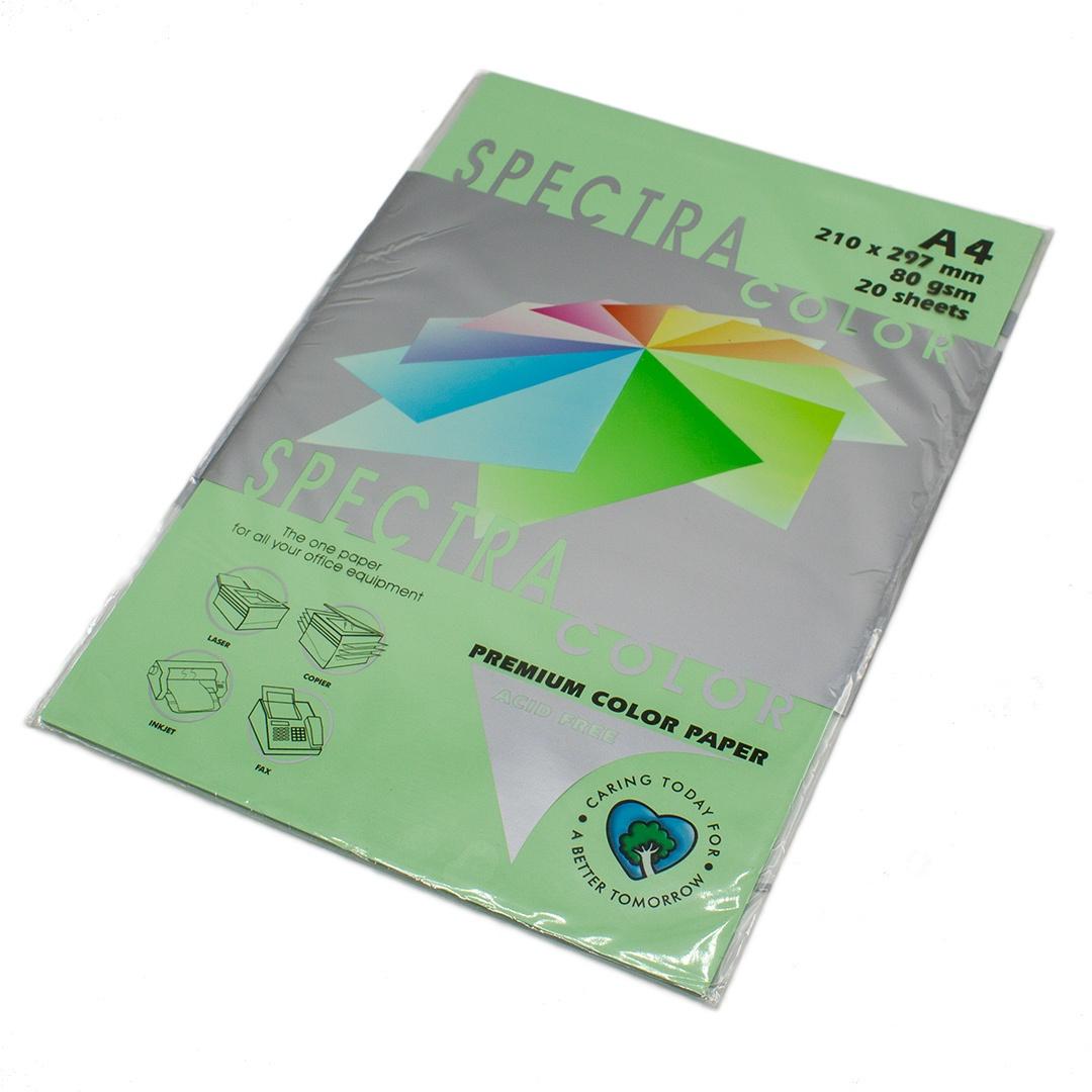 Бумага цветная Spectra Color IT190, Цвет: Green Зеленый, 20 листов велосипед silverback spectra 275 2019