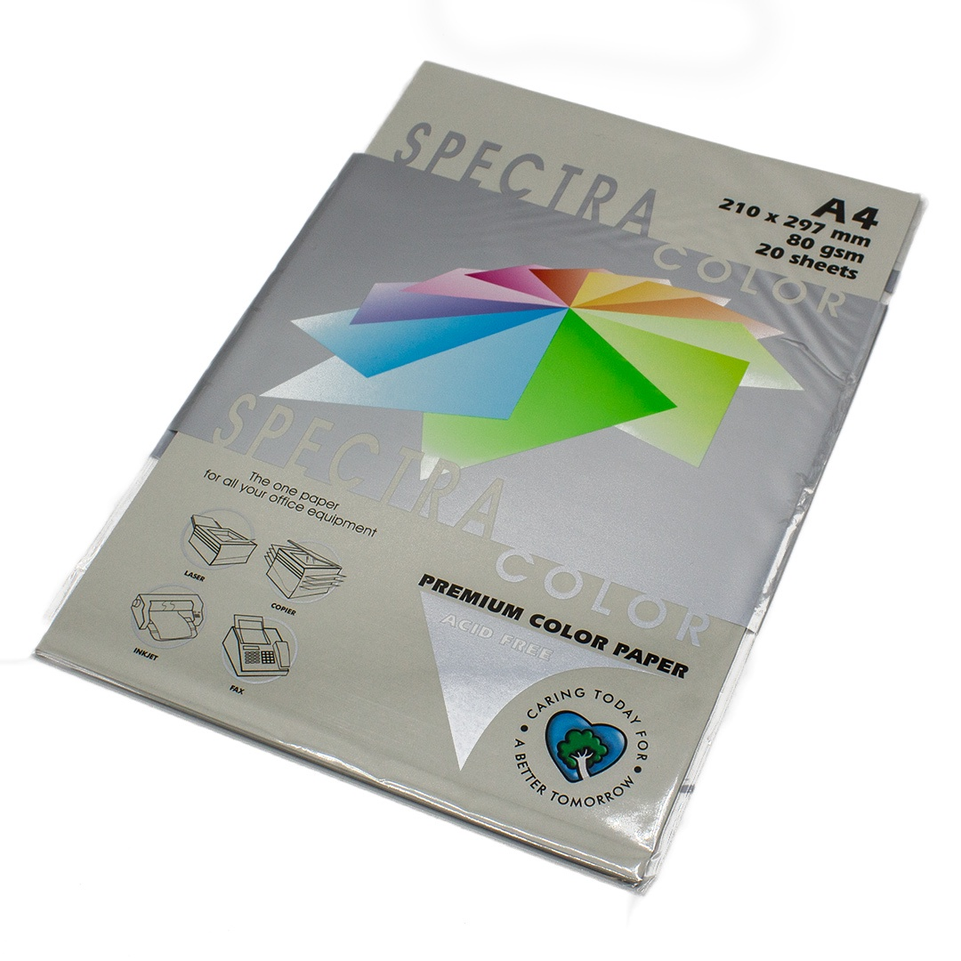 Бумага цветная Spectra Color IT272, Цвет: Platinum Серый, 20 листов