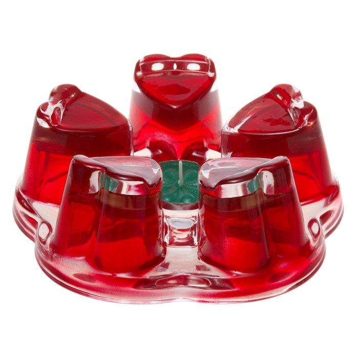 "Кухонная подставка для чайника ""Агава"" красная, Стекло"