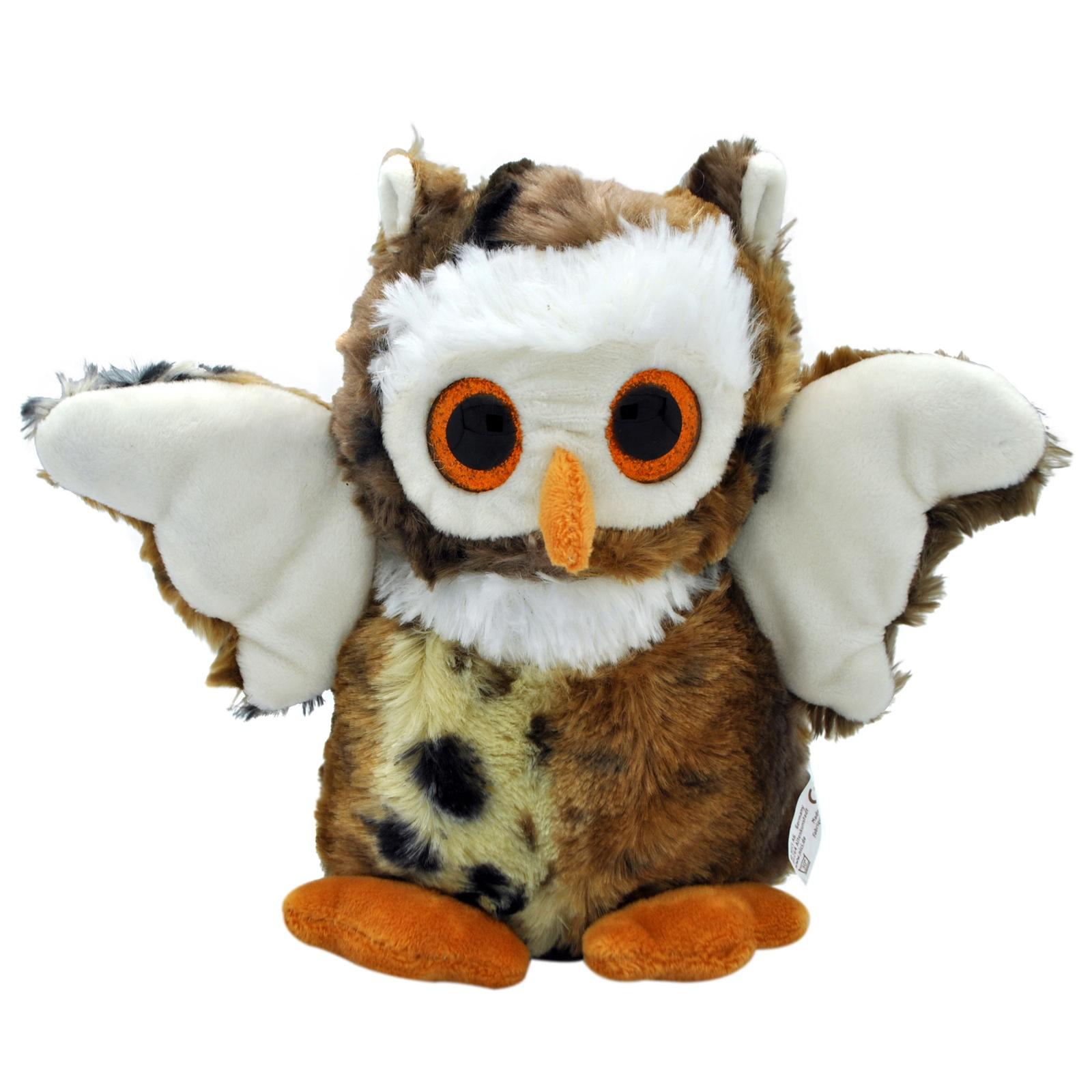 Мягкая игрушка АБВГДЕЙКА Сова темно-коричневый мягкая игрушка в пайетках сова 10см