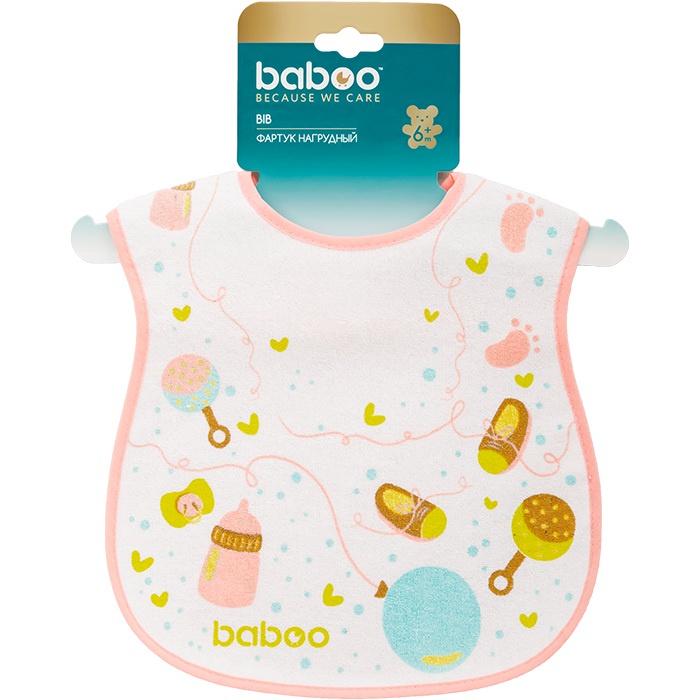 Слюнявчик BABOO Baby Shower махровый белый