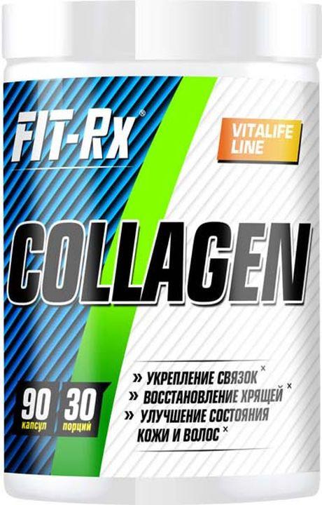Препарат для суставов и связок FIT-Rx Collagen, 90 капсул для волос желатин
