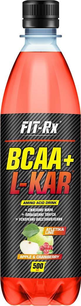 Аминокислотный комплекс FIT-Rx BCAA+L-KAR, яблоко, клюква, 500 мл все цены