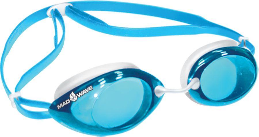 Очки для плавания MadWave Lane4, 10021458, голубой, белый фильтры gvs spr336idud сменные elipse p3 с защитой от запаха для полумасок spr337 502
