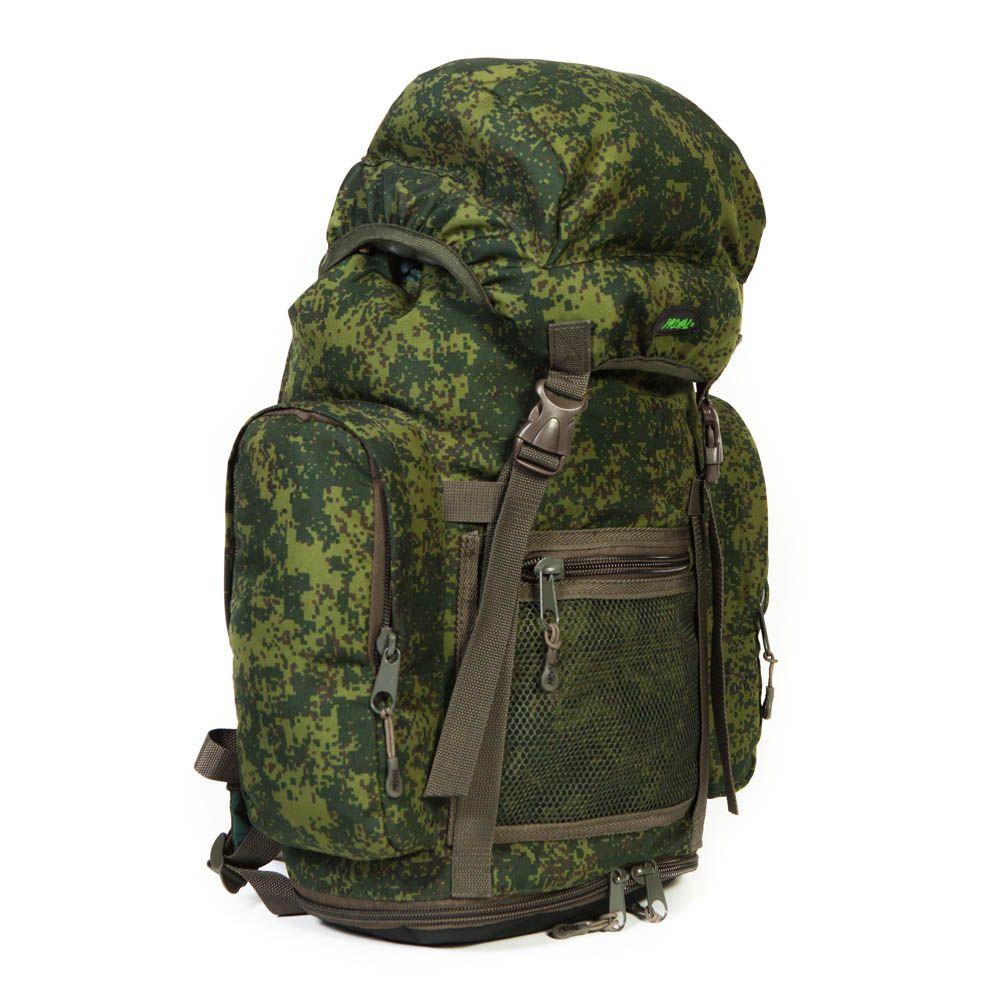 Рюкзак Prival Походный 35 Камуфляж цифра, зеленый, хаки, коричневый, серый