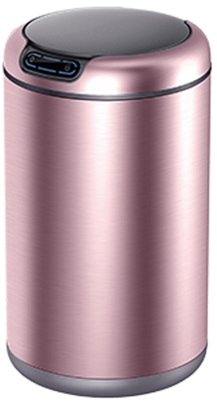 Мусорное ведро EKO EK9255-12L, светло-розовый