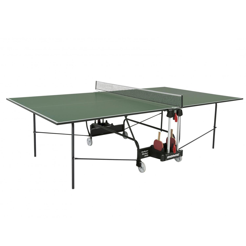 Теннисный стол Donic-Schildkrot Donic Indoor Roller 400 зеленый, зеленый теннисный стол dfc tornado 4 мм с сеткой