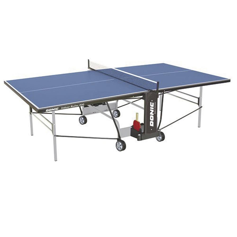 Теннисный стол Donic-Schildkrot Donic Indoor Roller 800 синий, синий теннисный стол dfc tornado 4 мм с сеткой