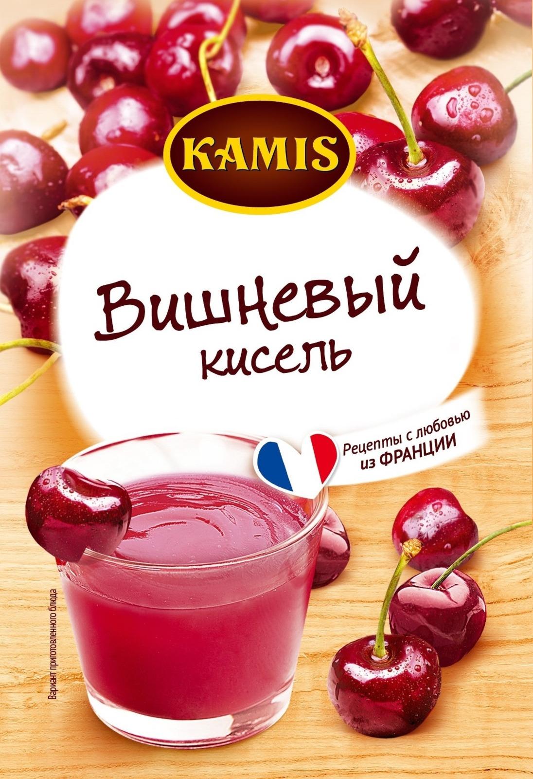Кисель Kamis Вишневый моментального приготовления, 30 г dr oetker десерт кекс в чашке вишневый 53 г