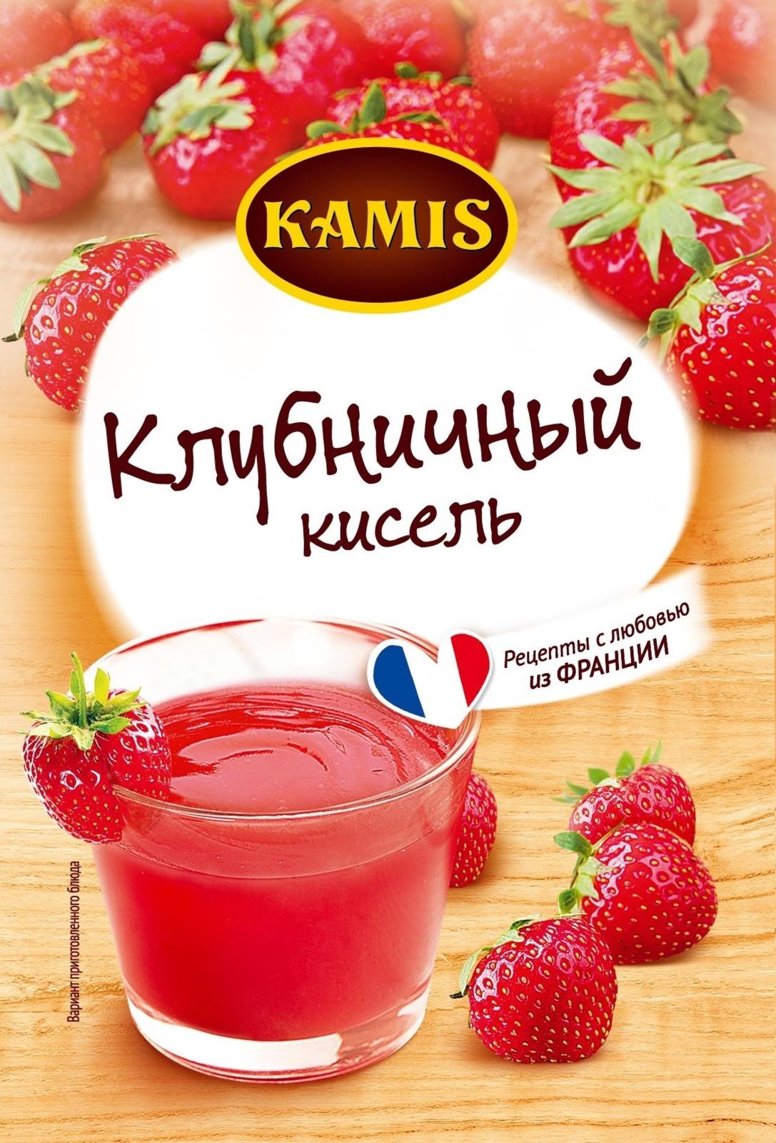 Кисель Kamis Клубничный моментального приготовления, 30 г