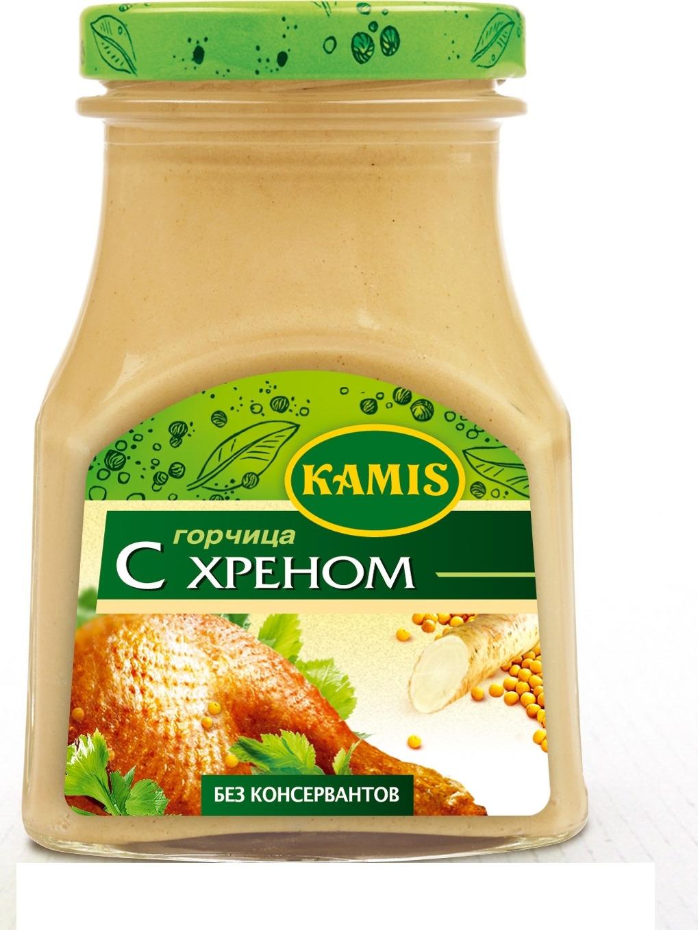 Kamis горчица с хреном, 185 г