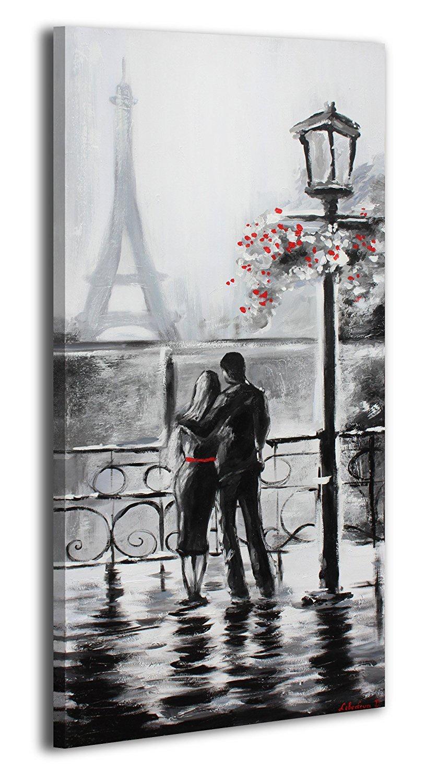 Картина После дождя в Париже 50х115 см, Акрил