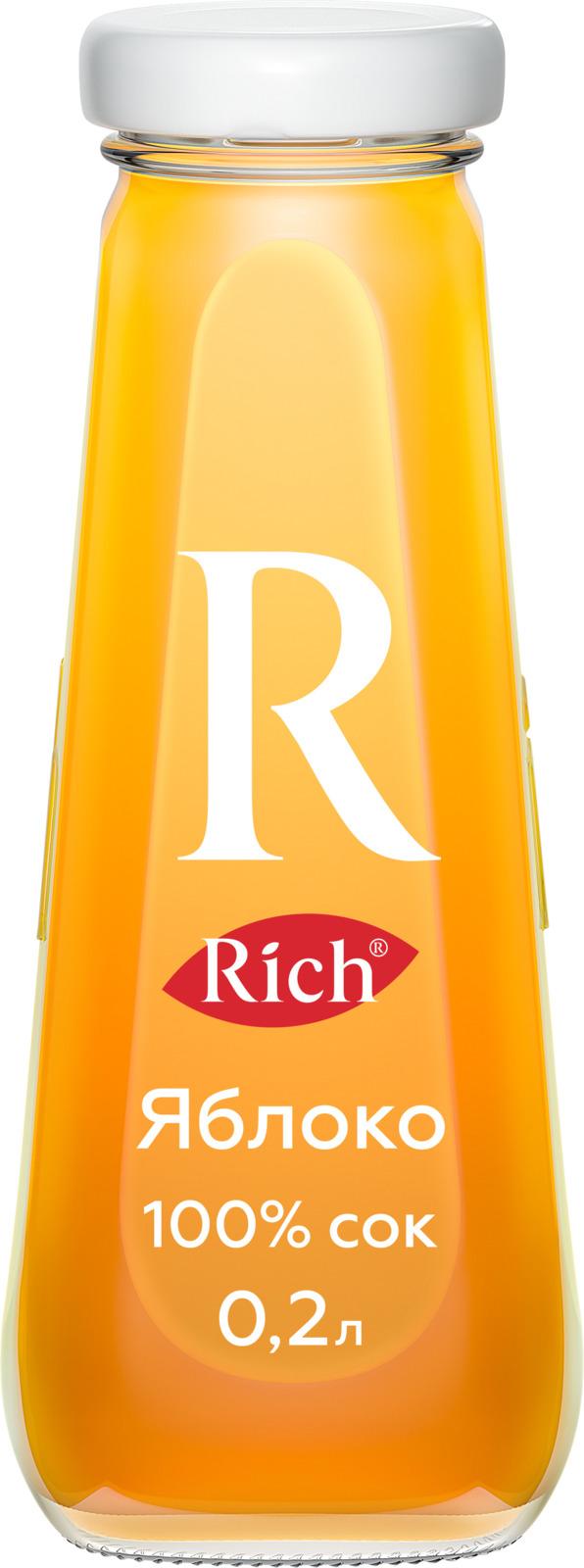 Сок Rich Яблочный, 12 штук по 200 мл