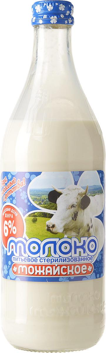 Молоко Можайское молоко, стерилизованное 6%, 450 мл Можайское Молоко