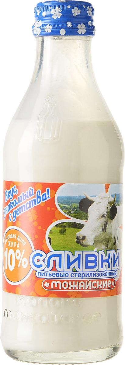 Сливки Можайское молоко, питьевые, стерилизованные 10%, 200 мл