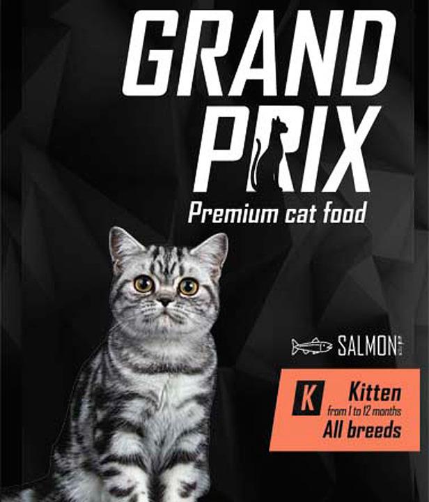Сухой корм Grand Prix Kitten, с лососем, для котят, 300 г