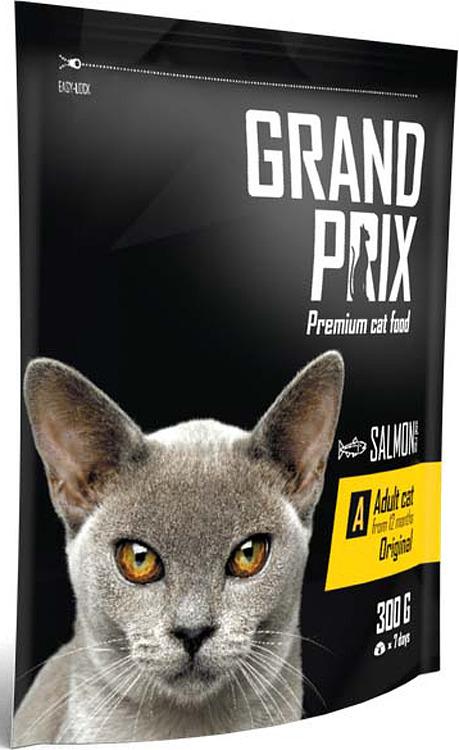 Сухой корм для взрослых кошек от 1 до 7 лет GRAND PRIX adult лосось 0.3кг