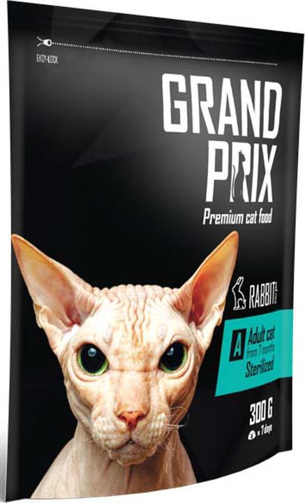 Сухой корм Grand Prix Adult Sterilized, с кроликом, для кошек, 300 г