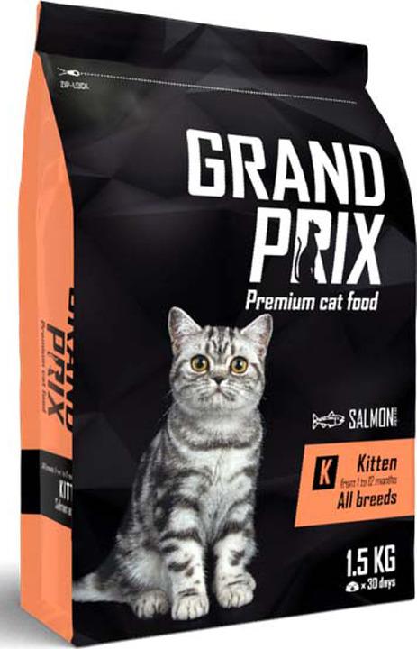 Сухой корм Grand Prix Kitten, с лососем, для котят, 1,5 кг