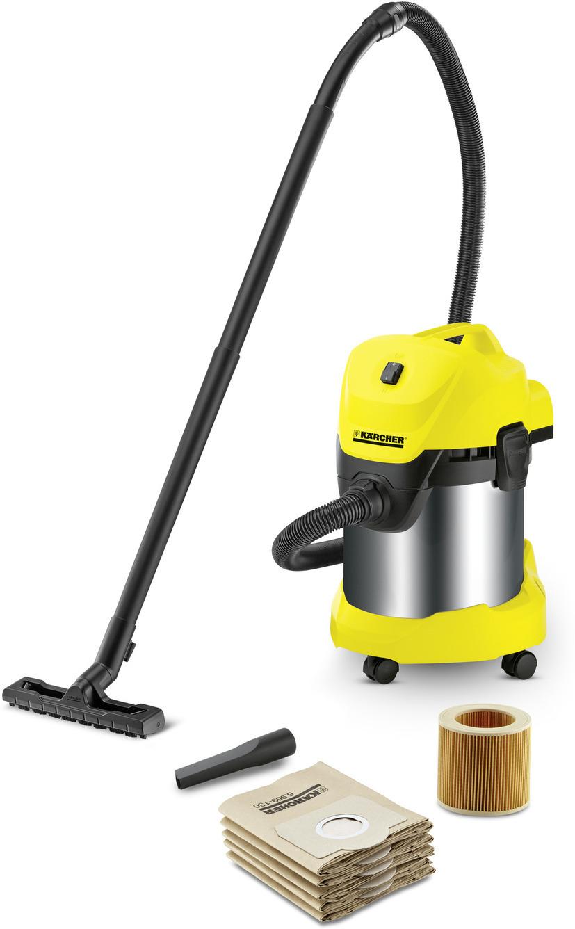 Строительный пылесос Karcher WD 3 Premium Jubilee, желтый, черный